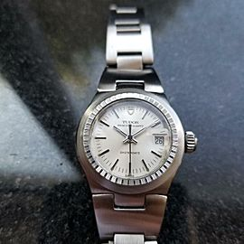 TUDOR All-Stainless Steel Ladies Princess Quartz Oysterdate, c.1980 Swiss MS211