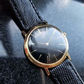 PIAGET Men's Solid 18K Gold Cal.9P Manual Hand-Wind Dress Watch, c.1970s MS164