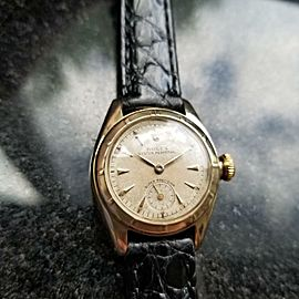 Rolex 14K Solid Gold Ladies Oyster Perpetual 5003 Automatic, c.1952 Swiss MS144