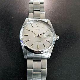 Vintage 1973 Rolex 6694 Oysterdate Precision Manual Mens Stainless Watch LV213