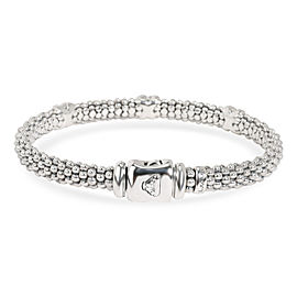 Lagos Caviar Triple X Rope Bangle in Sterling Silver