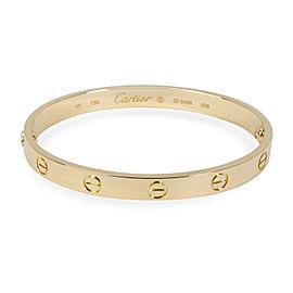 Cartier Love Bracelet in 18K Yellow Gold Size 17