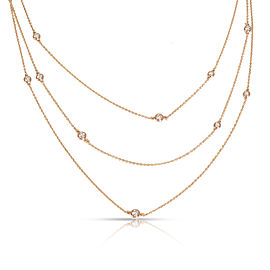 Tiffany & Co. Elsa Peretti Diamonds by the Yard Necklace in 18K Gold 1.20 ctw
