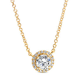 Diamond Halo Necklace in 18KT Yellow Gold (1.20 CTW)
