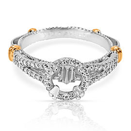 Verragio Parisian Diamond Engagement Ring Setting in 18K White Gold 0.33ctw