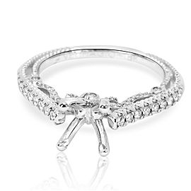 Verragio Diamond Pave Semi Mount in 18KT White Gold 0.30 CTW