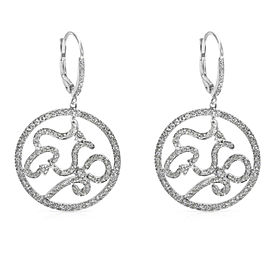 BRAND NEW Zydo Diamond Hanging Earrings in 18K White Gold (2.04 CTW)