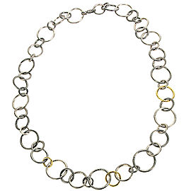 BRAND NEW Gurhan Hoop Necklace in Sterling Silver MSRP 6725
