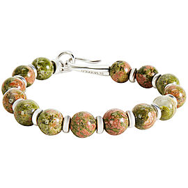 Di Modolo Unakite Bracelet in Plated Rhodium MSRP 250