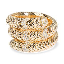 Bulgari Spiga Wrap Diamond Bracelet in 18K Yellow Gold 3.5 CTW