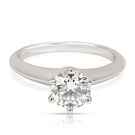 Tiffany & Co. Solitaire Diamond Engagement Ring in Platinum F VVS2 1.19 CTW