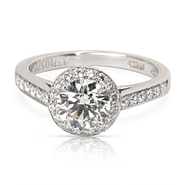 Tiffany & Co. Diamond Diamond Engagement Ring in Platinum F VVS1 1.07 CTW