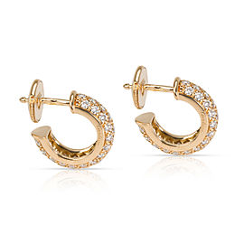 Cartier Pave Mini Diamond Hoop Earring in 18K Yellow Gold 0.84 CTW