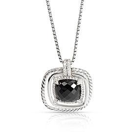 David Yurman Châtelaine Onyx & Diamond Pendant in Sterling Silver 0.41 CTW