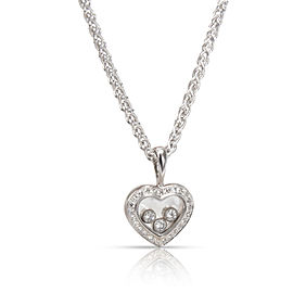 Chopard Happy Diamonds Icons Diamond Pendant in 18K White Gold 0.33 CTW
