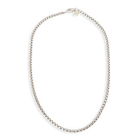 "David Yurman 17"" 3.6mm Box Chain 18 in Sterling Silver & 14K Yellow Gold"