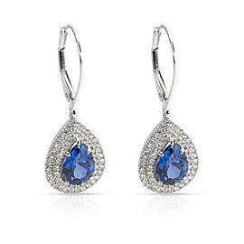 Tiffany & Co. Soleste Tanzanite & Diamond Earrings in Platinum Blue (3.01 CTW)