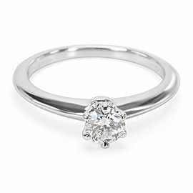 Tiffany & Co. Diamond Engagement Ring in Platinum F VS1 0.31 CTW