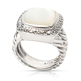 David Yurman Diamond & Mother of Pearl Albion Ring in Sterling Silver 0.25 ctw