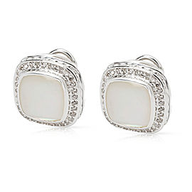 David Yurman Mother of Pearl Albion Earrings in Sterling Silver