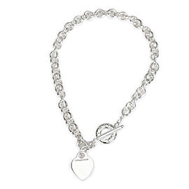 Tiffany & Co. Return To Tiffany Heart Tag Toggle Necklace in Sterling Silver