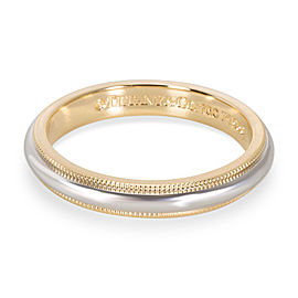 Tiffany & Co. Men's Milgrain Wedding Band in 18K Yellow Gold & Platinum
