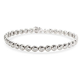 Tiffany & Co. Doughnut Bezel Diamond Tennis Bracelet in Platinum (2.50 CTW)