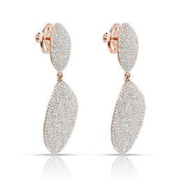 Monica Vinader Nura Teardrop Earrings Sterling Silver Rose Gold Vermil 2.62CTW