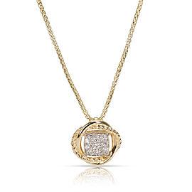 David Yurman Infinity Diamond Necklace in 18K Yellow Gold 0.15 CTW
