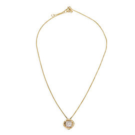 David Yurman Infinity Diamond Necklace in 18K Yellow Gold 0.15 CTW
