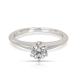 Tiffany & Co. Diamond Solitaire Engagement Ring in Platinum (0.48 ct E/VVS1)
