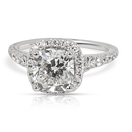GIA Certified Scott Kay Cushion Diamond Engagement Ring in 14K Gold 1.98 ct H/I1