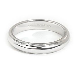 Tiffany & Co. Milgrain Wedding Band in Platinum 4mm
