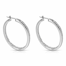 Diamond Hoop Earrings in 14K White Gold (2.02 CTW)