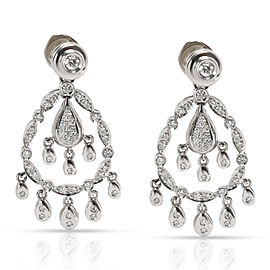Gayubo Diamond Jacket Drop Earrings in 18KT White Gold 1.15 ctw
