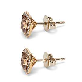 BRAND NEW Radiant Cut Diamond Studs in 18k Rose Gold (1.98 CTW)