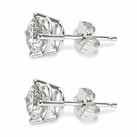 4 Prong Basket Diamond Stud Earrings in 14K White Gold