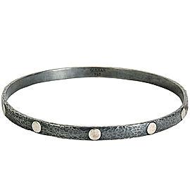 BRAND NEW Gurhan 'Midnight' Bangle Bracelet in Sterling Silver MSRP 750