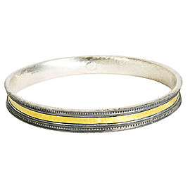 Gurhan Bangle Bracelet in 24K Yellow Gold and Sterling Silver MSRP 1,195