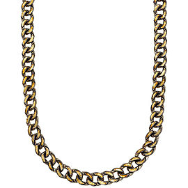 Gurhan Chain Link Necklace in Sterling Silver and 24K Yellow Gold MSRP 4125