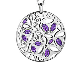 BRAND NEW Di Modolo Purple Quartz Necklace in Plated Rhodium MSRP 1275