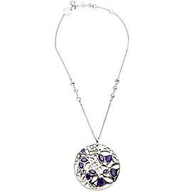 BRAND NEW Di Modolo Purple Quartz Necklace in Plated Rhodium MSRP 1275