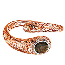 BRAND NEW Di Modolo Smoky Quartz Bracelet in Plated 18KT Rose Gold