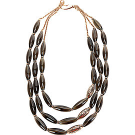Di Modolo Smoky Quartz Necklace in Plated 18K Yellow Gold