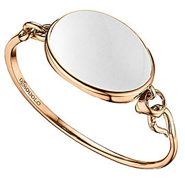 Di Modolo White Agate Bangle Bracelet in Plated 18K Rose Gold