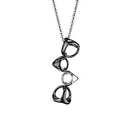 BRAND NEW Di Modolo Icona Necklace in Sterling Silver & Plated Black Rhodium