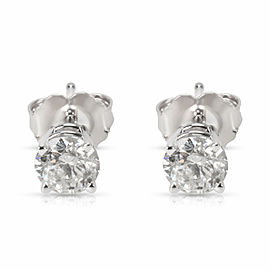 Diamond Stud earrings in 14KT White Gold 0.74 ctw