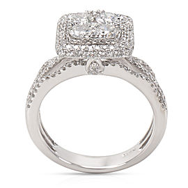 Square Halo Diamond Cluster Ring in 14KT White Gold 1.50 CTW