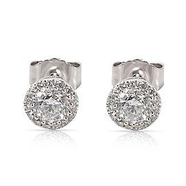 Diamond Halo Stud Earrings in 14K White Gold (1/2 CTW)