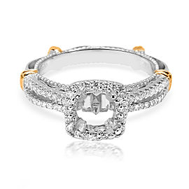 Verragio Diamond Engagement Ring Setting for a Cushion Center in 18K White Gold